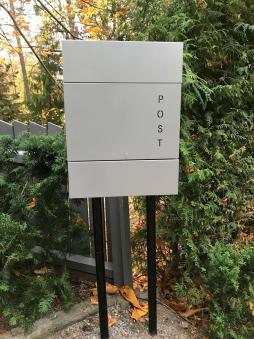 Briefkasten / Postkasten ScanPro 11-9 silbergrau Bild 2