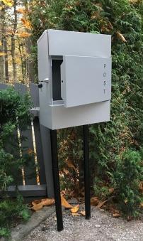 Briefkasten / Postkasten ScanPro 11-9 silbergrau Bild 3