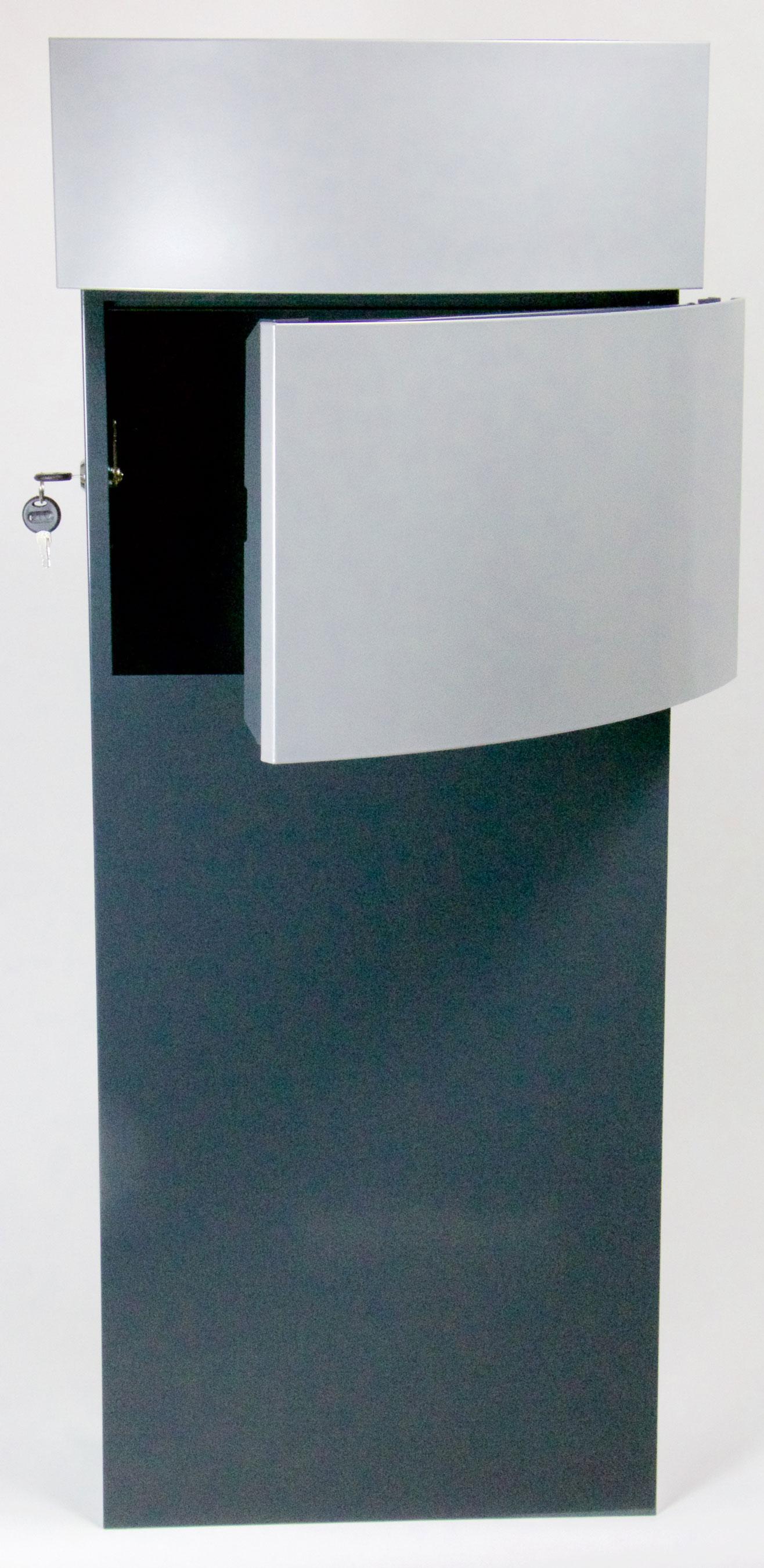 Briefkasten / Postkasten ScanPro 12-9 anthrazitgrau/silbergrau Bild 2