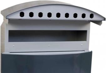 Briefkasten / Postkasten ScanPro 12-9 anthrazitgrau/silbergrau Bild 3