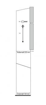 Briefkasten / Postkasten ScanPro 12-9 anthrazitgrau/silbergrau Bild 4