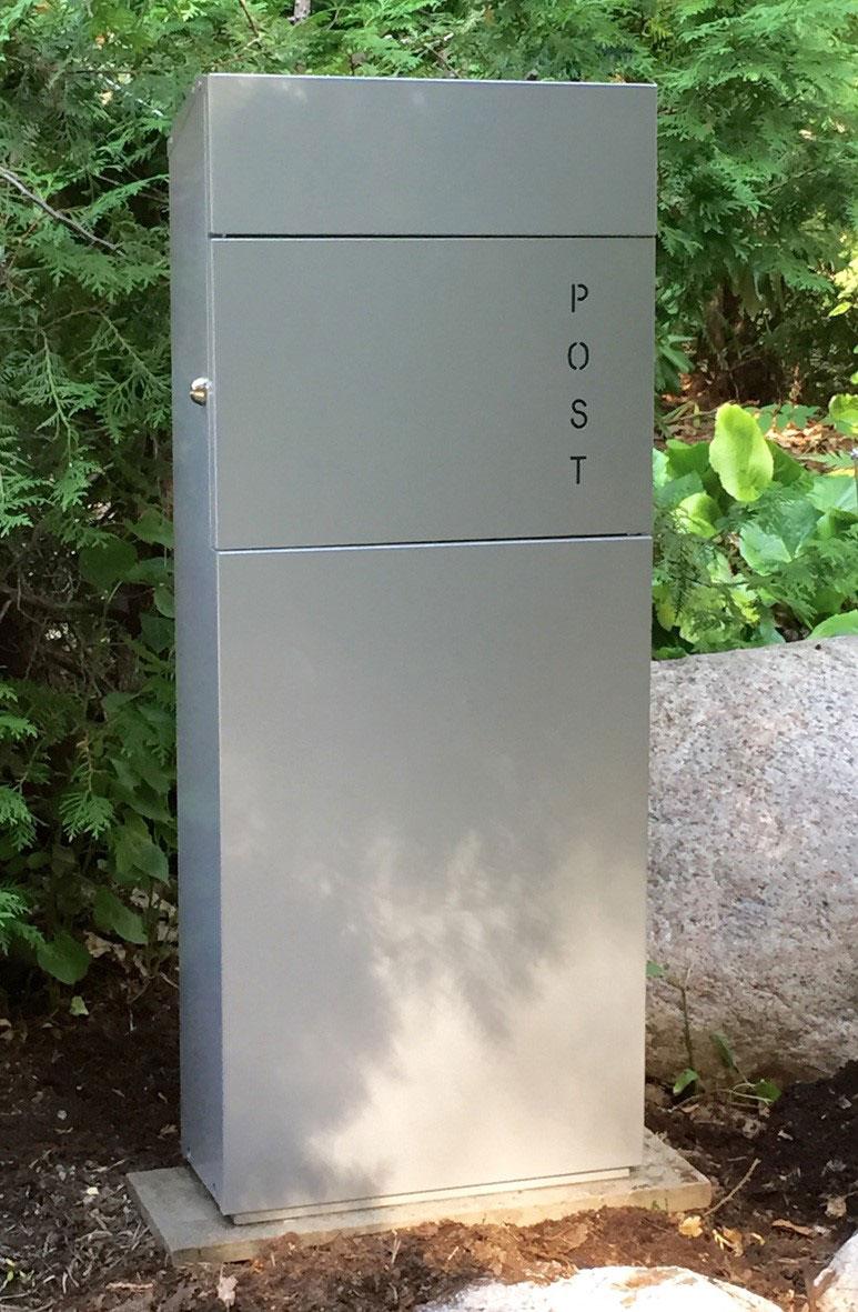 Briefkasten / Postkasten ScanPro 22-9 silbergrau Bild 3