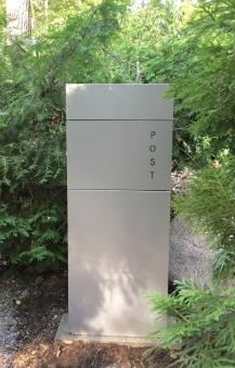 Briefkasten / Postkasten ScanPro 22-9 silbergrau Bild 5