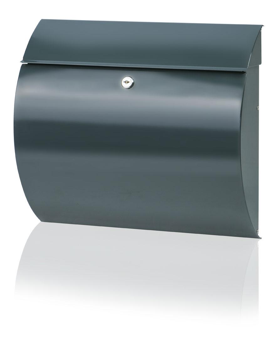Burg Wächter Briefkasten Toscana Stahl anthrazit 330x376x106mm Bild 1