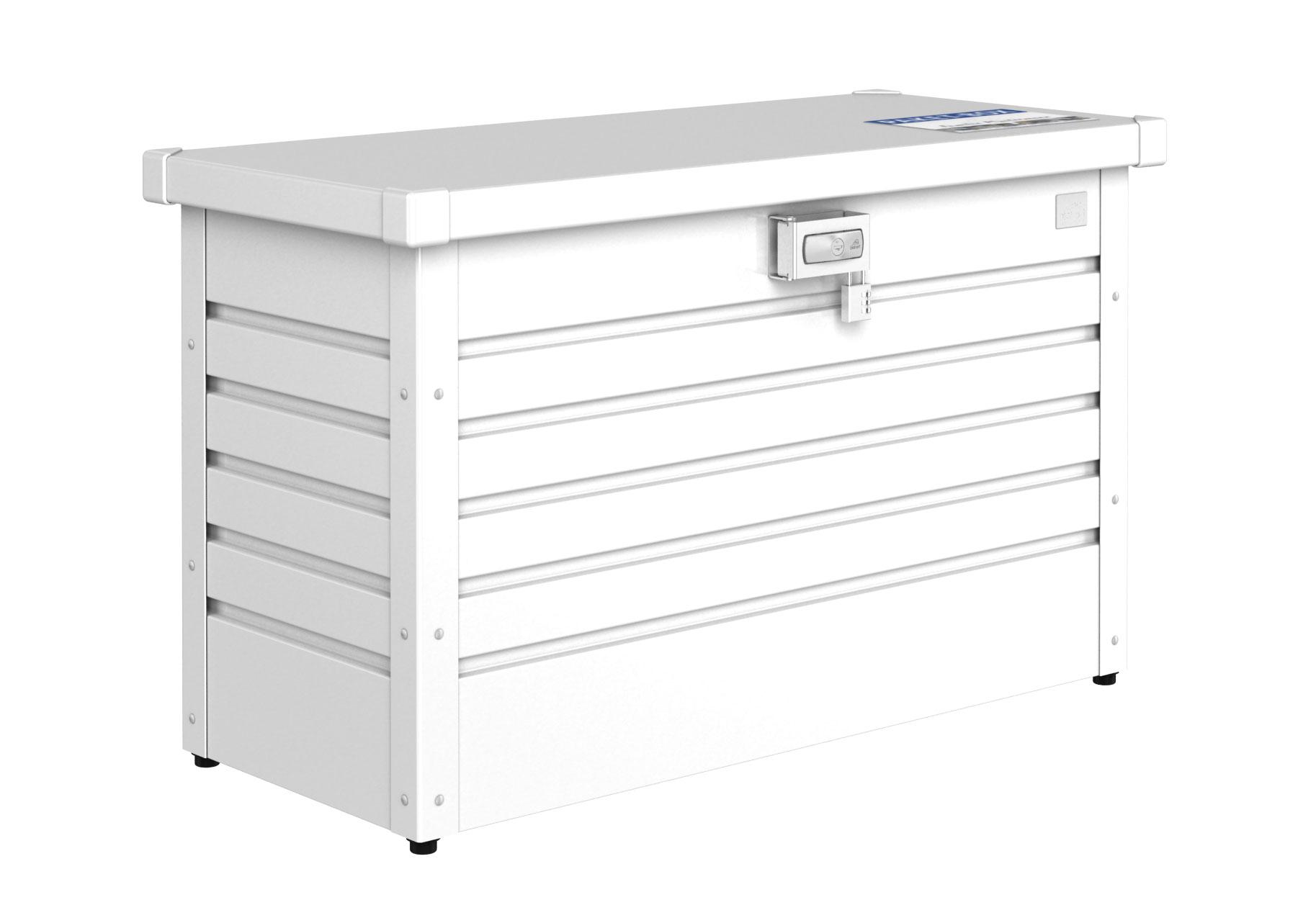 Paket-Box / Gartenbox Biohort 100 weiß 101x46x61cm Bild 1