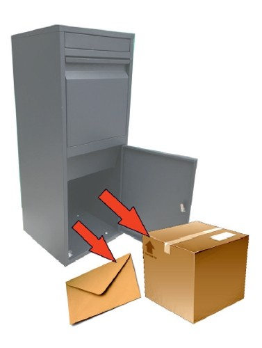 Paketbriefkasten / Paketbox / Paketkasten Chic-XL 41x38x102cm Bild 3