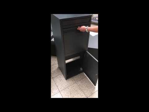 Paketbriefkasten / Paketbox / Paketkasten Chic-XL 41x38x102cm Video Screenshot 2893
