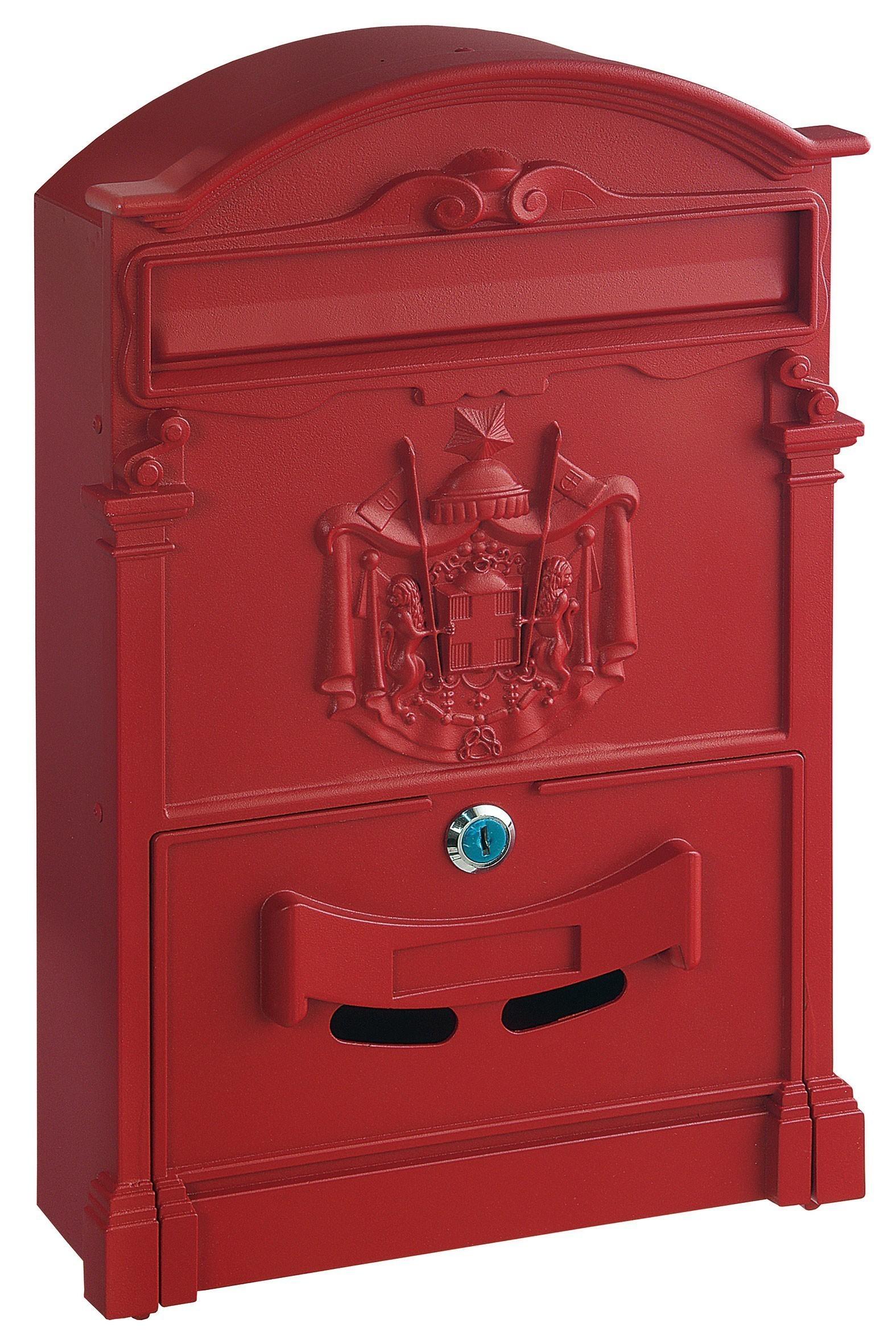 Rottner Briefkasten Ashford rot 410x260x90mm Bild 1