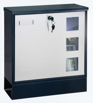 Rottner Briefkasten / Design Mailbox schwarz 380x370x120mm Bild 1