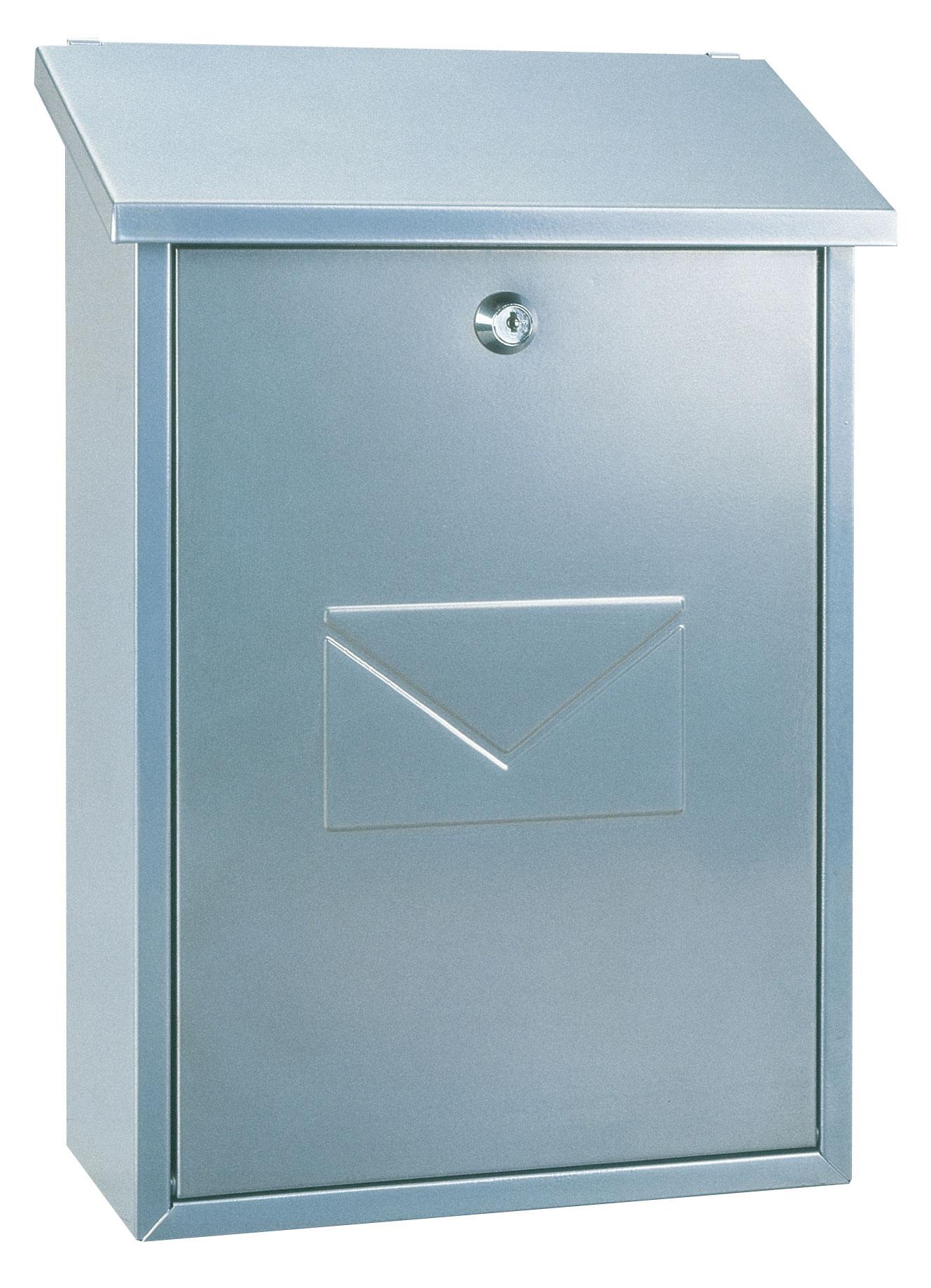Rottner Briefkasten Parma silber 390x270x115mm Bild 1
