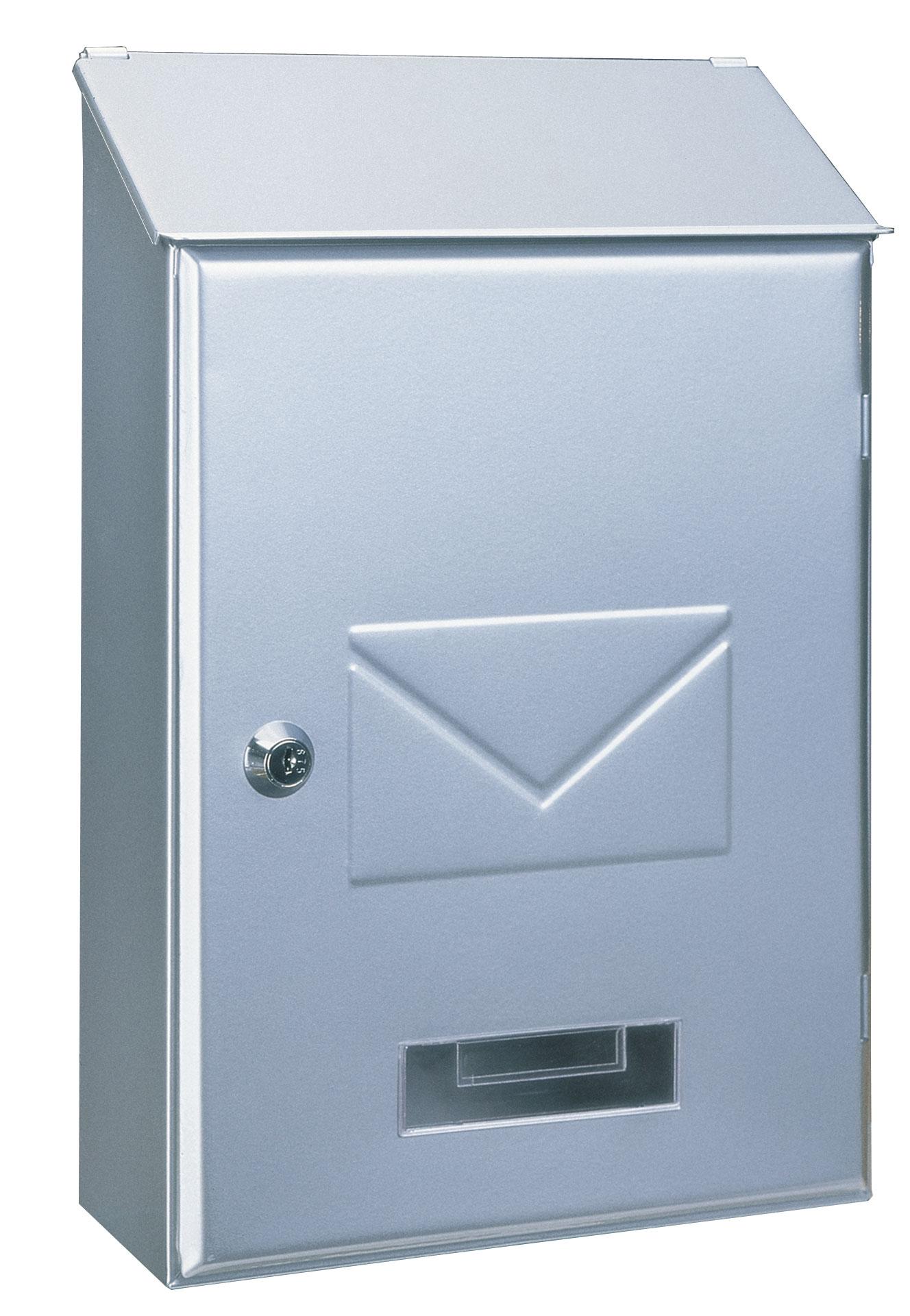 Rottner Briefkasten Pisa silber 360x230x90mm Bild 1