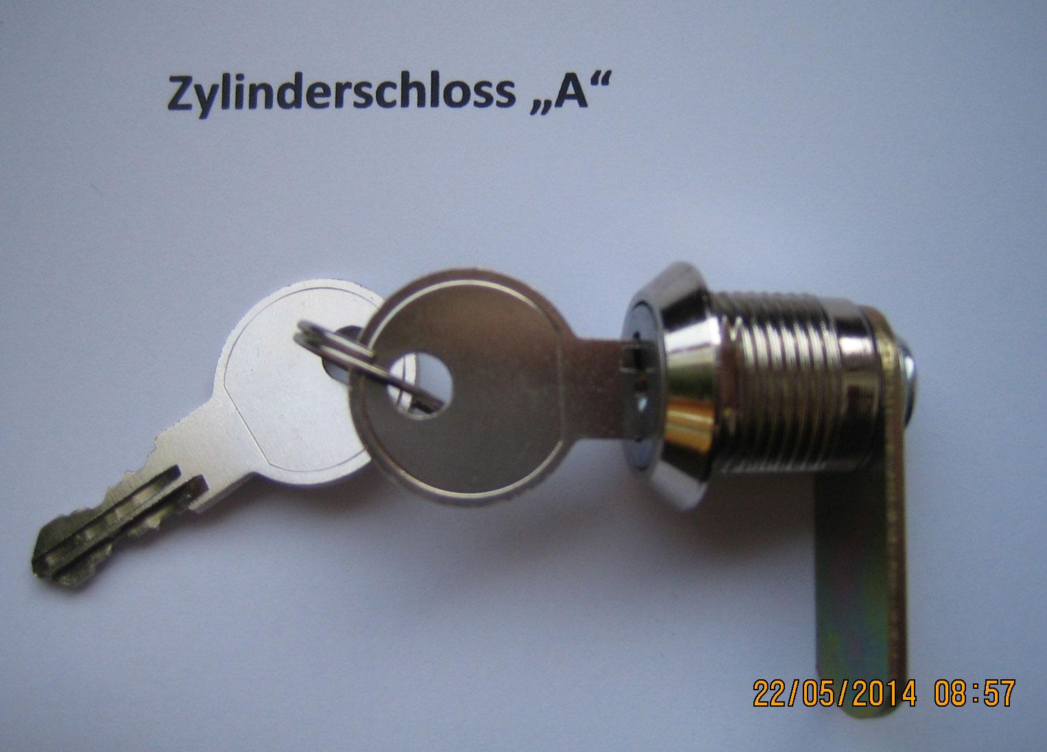 Schliesszylinder A für Briefkasten / Postkasten Safe Post verchromt Bild 1