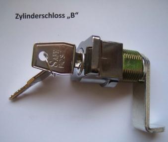 Schliesszylinder B für Briefkasten / Postkasten Safe Post verchromt Bild 1
