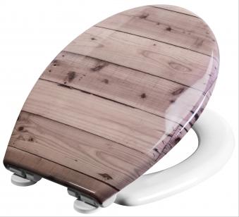 Duroplast WC-Sitzt Holzbohlen Bild 1