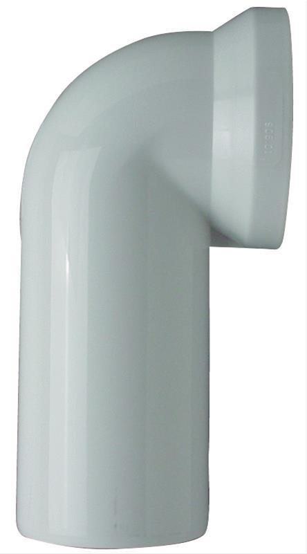 WC-Ablaufbogen 90 weiß Bild 1