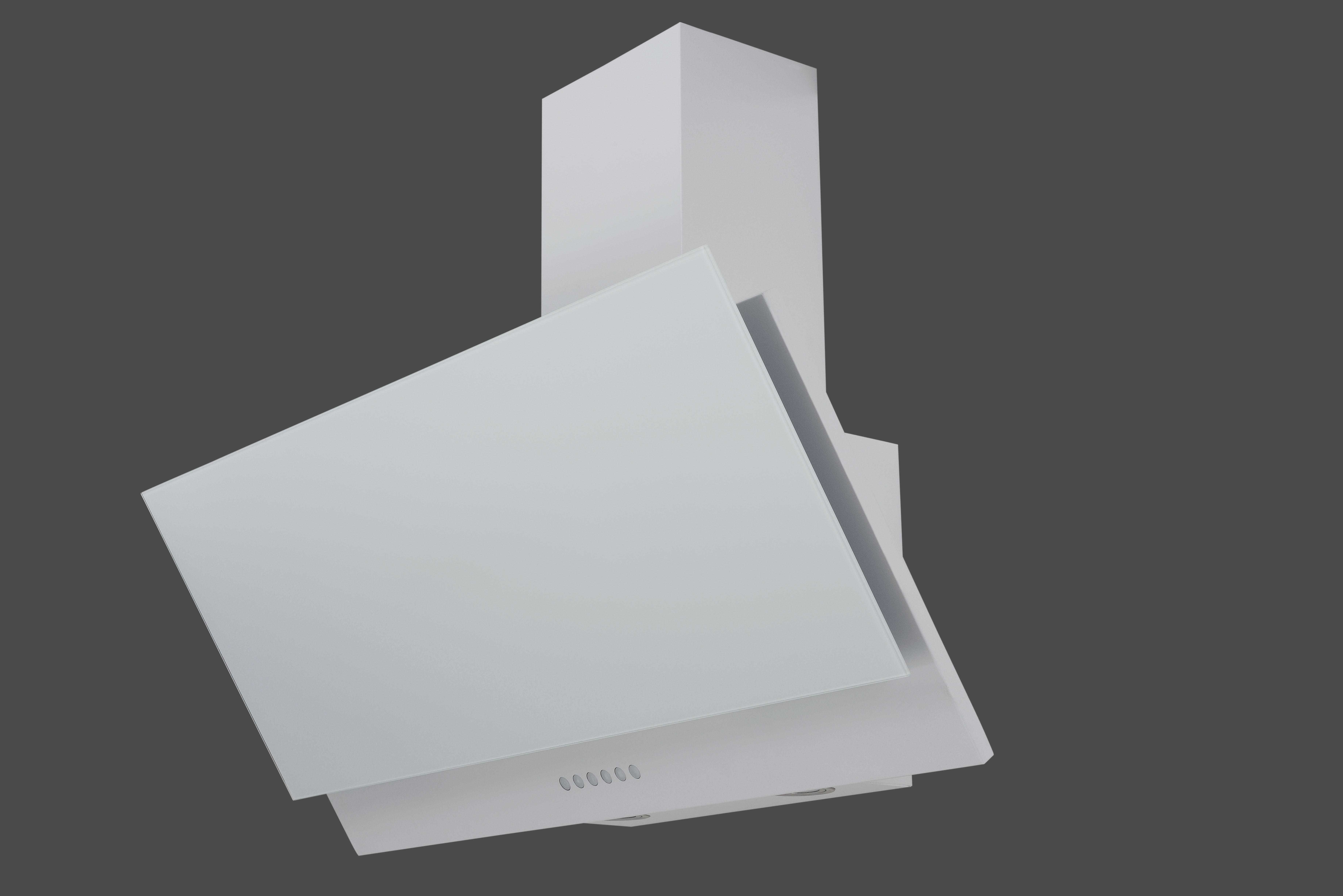 Dunstabzugshaube / Schräghaube Respekta CH 66038 90 W 90x41,8cm weiß Bild 1