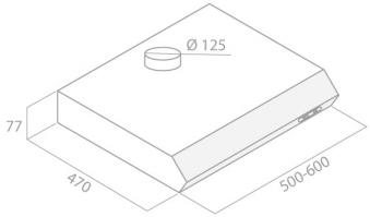 Dunstabzugshaube / Unterbauhaube Respekta DH 540 IXL 50cm silber Bild 2