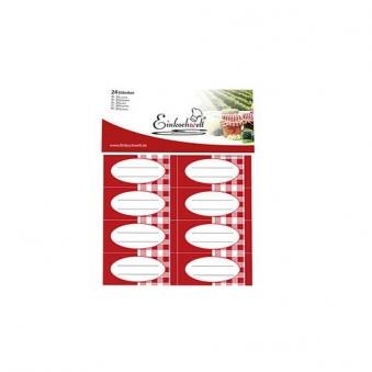 Einkochetiketten / Haftetiketten Einkochwelt 24 Stück Bild 1