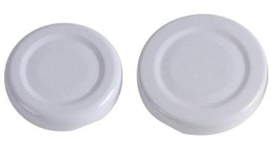 Twist-Off-Deckel / Schraubglas Deckel 43 mm weiß Bild 1