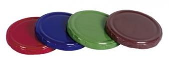 Twist-Off-Deckel / Schraubglas Deckel 82 mm blau Bild 1