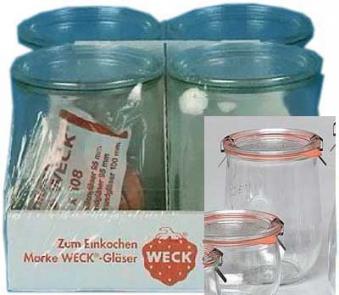 Einkochgläser - Einmachgläser / Einweckgläser 4er-Pack Weck Bild 1