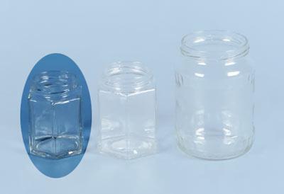 einmachglas marmeladenglas sechseckig ohne deckel 190 ml. Black Bedroom Furniture Sets. Home Design Ideas