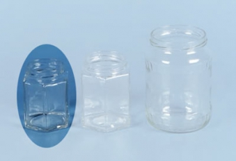 Einmachglas / Marmeladenglas 6-eckig ohne Deckel 190 ml Bild 1