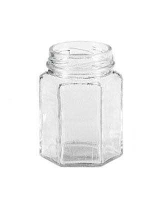 Einmachglas / Marmeledenglas 6-eckig ohne Deckel 110ml Bild 1