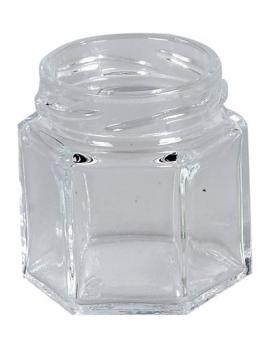 Einmachglas / Marmeledenglas 6-eckig ohne Deckel 47 ml Bild 1
