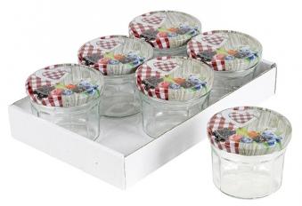 Marmeladenglas / Konfitürenglas 240 ml 6 Stück Bild 1