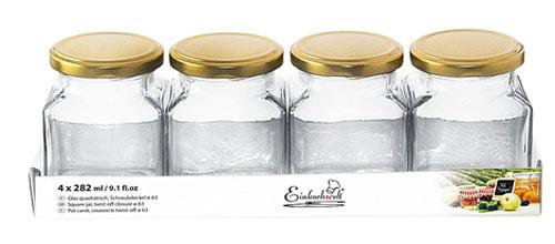 Pestogläser / Marmeladengläser 200 ml 4 Stück Bild 1