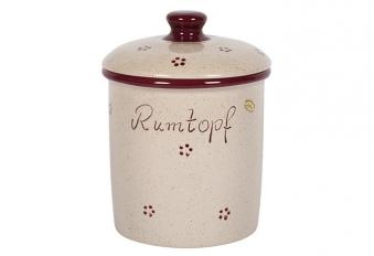 Rumtopf Rubin Steingut 3 Liter Bild 1