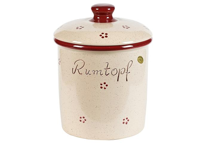 Rumtopf Rubin Steingut 5 Liter Bild 1