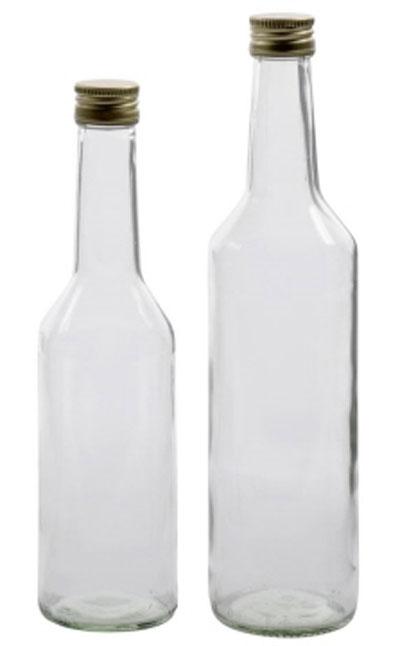 Flasche mit Hals  / Gradhalsflasche 350 ml mit PP Verschluß Bild 1