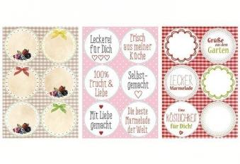 Etiketten / Deco-Sticker Selbstgemacht 24 Stück