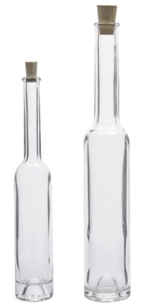 Glasflasche / Spirituosenflasche Platina 100 ml Bild 1