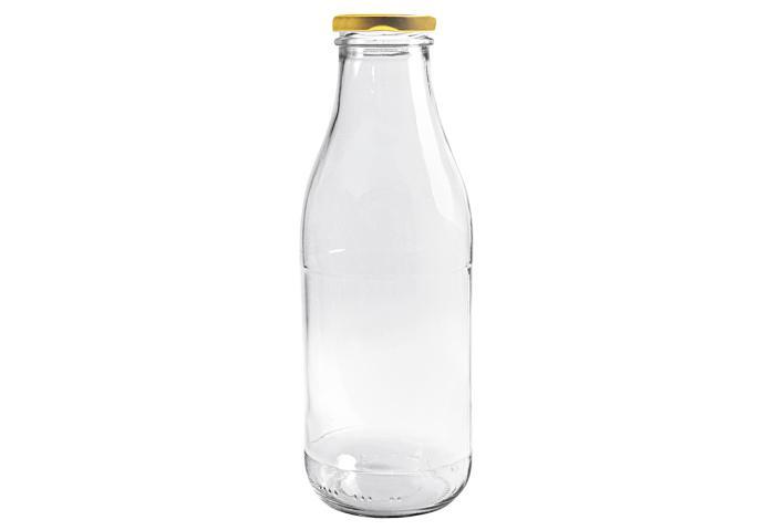 Saftflasche mit Deckel Glas 1Liter Bild 1