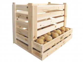 Kartoffelkiste / Kartoffelhorde / Obstkiste Habau stapelbar Bild 1