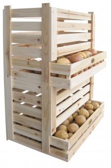 Kartoffelkiste / Kartoffelhorde / Obstkiste Habau stapelbar Bild 2