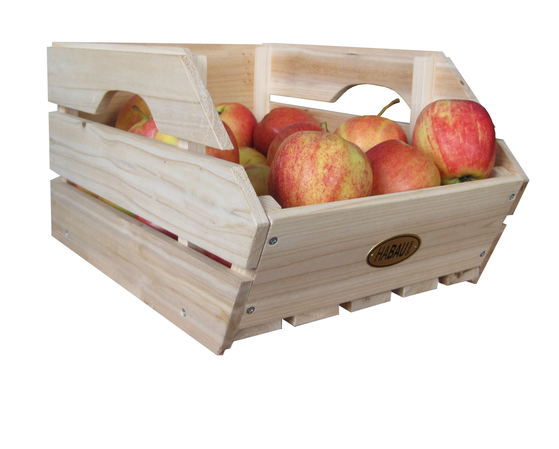 Obstkiste / Gemüsekiste / Lebensmittelkiste Habau 3-er Set stapelbar Bild 1