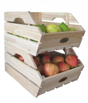 Obstkiste / Gemüsekiste / Lebensmittelkiste Habau 3-er Set stapelbar Bild 2