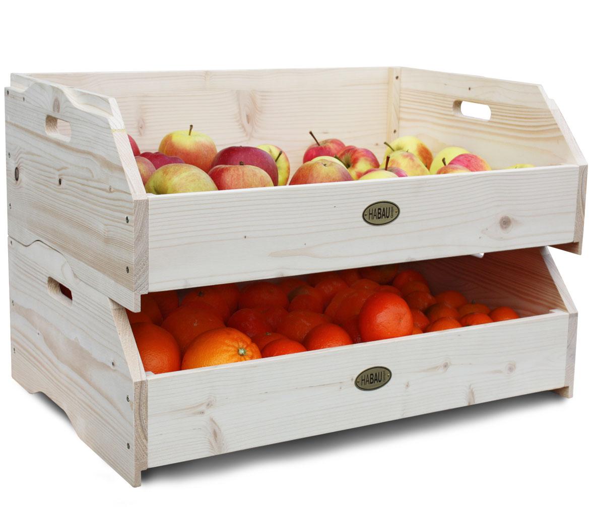 Obstkiste / Gemüsekiste / Stapelkiste Habau Maxi 59x38x18cm Bild 4