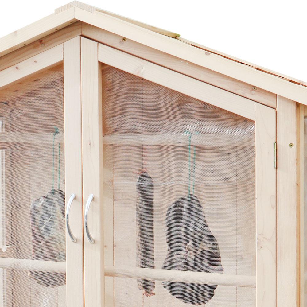 Trocknungsschrank / Gartenschrank Habau Holz-Gaze 86x50x165cm Bild 4