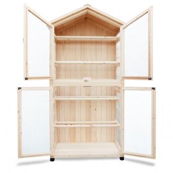 Trocknungsschrank / Gartenschrank Habau Holz-Gaze 86x50x165cm Bild 2