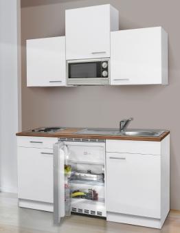 Küchenblock / Kleinküche Respekta mit Geräten 150cm weiß Bild 1