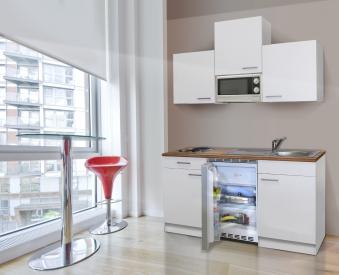 Küchenblock / Kleinküche Respekta mit Geräten 150cm weiß Bild 2