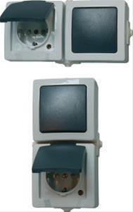 Kombination AP/FR senkr. A/W+Steckd.,Nautic grau Bild 1