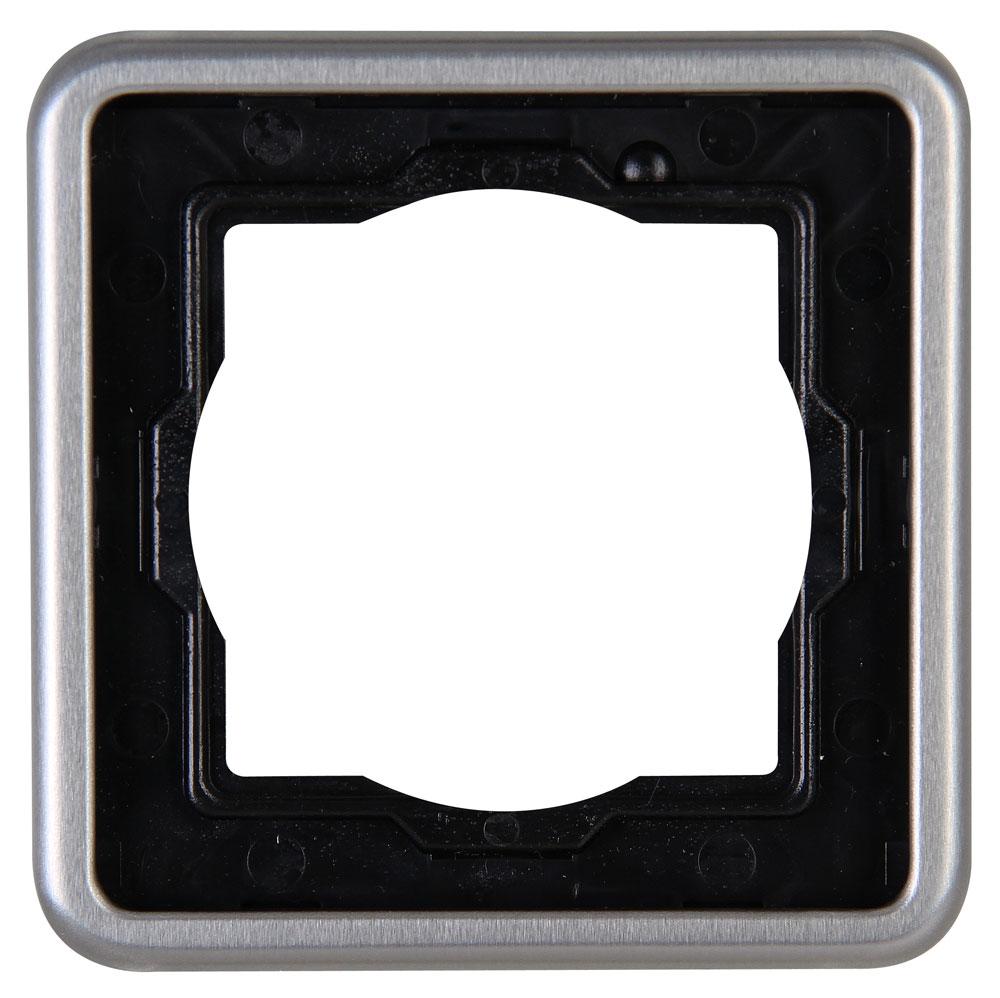 Kopp Abdeckrahmen für Schalter Vision stahl 1-fach Bild 1