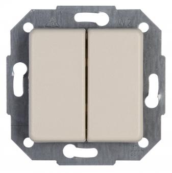 Kopp EUROPA Lichtschalter / Serienschalter creme 10A, 250V UP Bild 1