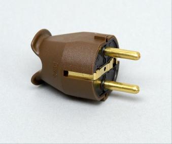 Kopp Kunststoff - Schutzkontakt - Stecker braun Bild 1